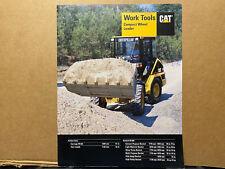 Caterpillar Work Tools For Compact Wheel Loader 906 Etc Brochurecatalog 1998