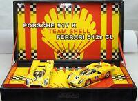 Fly Porsche 917K & Ferrari 512S CL Team Shell Slot racing cars 96065