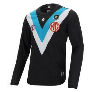 Port Adelaide Power AFL 2021 Macron Home Guernsey Long Sleeve Sizes S-5XL!