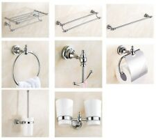 Chrome Brass Bathroom Accessories Series Wall Mounted Bathroom Hardware Set