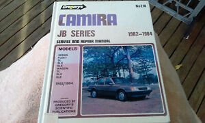Holden JB Series Camira 1982-84 Gregorys Workshop Manual 210 service repair