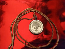 """1987 UK One Pound Proof Coin Pendant on an 18K  28"""" Gold Filled Foxtail Chain"""