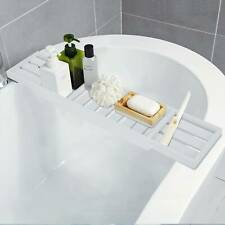 New Bamboo Wooden Bath Tub Rack Bathroom Shelf Tidy Tray Storage Caddy UK