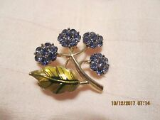 Beautiful Fashion Jewelry Flower Pin, Lavender Crystals