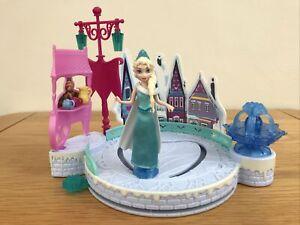 * DISNEY FROZEN Elsa's Ice Skating Rink Magiclip Playset Mattel VGC *