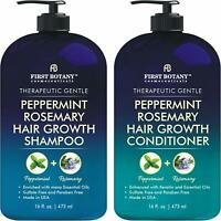 Peppermint Rosemary Hair Regrowth and Anti Hair Loss Shampoo and Conditioner Set