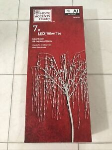 Christmas Willow Tree 7 ft. LED Weather Resistant Ground Stakes Timer Included