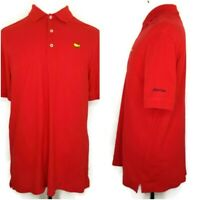 Masters Collection Mens Size Large Solid Red Short Sleeve Golf Polo Shirt