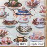(1611) TWO Individual Paper Luncheon Decoupage Napkins - TEAPOTS TEACUPS TEA