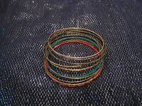 11x simple varied metal bangles in various colours and styles