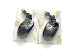 LOT 2 X SOURIS TARGUS AMU78EUK USB avec cordon rétractable