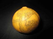 ancienne coloquinte sculptée asie Chine? début XXème