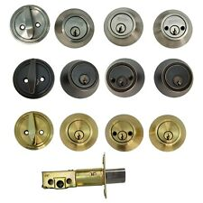 High Quality All Type DeadBolt Lock Entry Keyed Cylinder 3 Key Exterior Interior