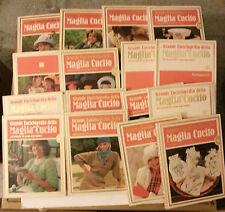 Grande Enciclopedia della Maglia e Del Cucito - Ed. Curcio 18 Vol. +Cartamodelli