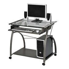 Acme Furniture Vincent Computer Desk For Desktop or Laptop In Silver Finish New