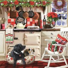 NEW 1000 piece Jigsaw Puzzle Cosy Christmas Scene BLACK LABRADOR Dog Lover Gift