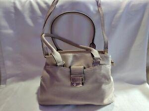 Leather Beige Purse w/ Removeable Shoulder Strap