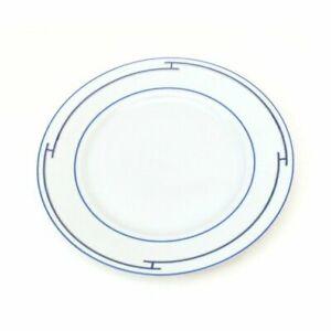 "Hermes Rhythm Dinner Plate 10.6"" blue Porcelain 27 cm tableware hy"