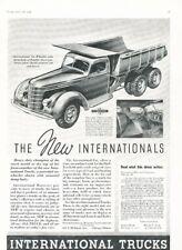 1937 IHC International Dump Truck Vintage Advertisement Print Art Car Ad K102