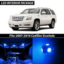 2007-2016 Cadillac Escalade Blue Interior LED Lights Package Kit