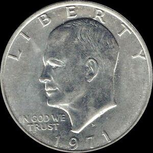 "1971 D Eisenhower Dollar ""Circulated"" US Mint Coin Ike"
