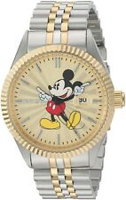 Mickey Mouse Men's Watch Limited Edition Quartz Stainless Steel Casual Two-Tone