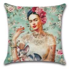 "Mexican Frida Kahlo Cushion Cover 17"" / 45cm Square Pillow Case Self Portrait"