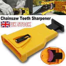 Chainsaw Teeth Sharpener Bar Mount Chainsaw Blade Self Sharpening Grinder Kit UK
