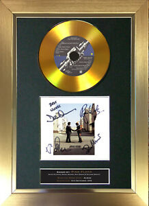 GOLD DISC PINK FLOYD Wish You Were Here Signed Autograph Mounted Print A4 151