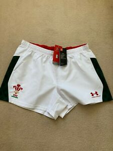 Under Armour WRU Match Issue Airvent  Welsh Rugby Away Shorts -BNWT-Rare