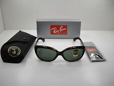 RAY-BAN JACKIE OHH SUNGLASSES RB4101 710 TORTOISE FRAME/GREEN CLASSIC LENS 58MM