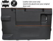Cuciture color arancio PORTELLONE POSTERIORE PORTA CARD LTHR Copertura Per Land Rover Defender 90 03-17 3DR