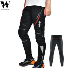 Men's Thermal Fleece Trousers Winter Cycling Running Sportswear Reflective Pants