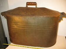 Vintage Copper Bottom Laundry Tub Wash Boiler With Lid (local p/u)