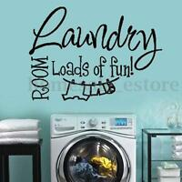 Laundry Room Wall Sticker Wash House Vinyl Removable Wall Decal Home Art