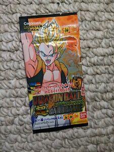 DragonBall Z Japanese Card Game Carddass Bandai 2007 Booster Pack Super Rare