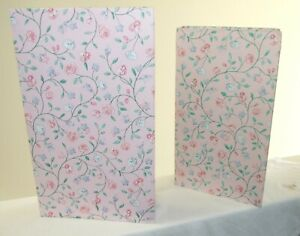 Ring Binder Photo Albums - Pink Floral - Set of 2 - HOLDS 840 PHOTOS - NWOT
