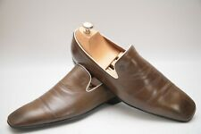 Mens Gucci Brown Leather Loafers UK 7