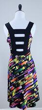 NWT Papillon Blanc (Montreal) Multicolor Dress, Unique Open Back, Size XS ($188)