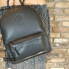 Tory Burch (61411) Thea Zip Around Pebbled Leather Large Backpack Bag Leather