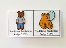2 Teddy Bear Metal Enamel Lapel Pin Badges