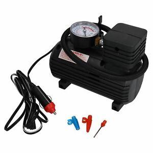 12V Mini Compact Air Compressor 300 PSI Cigarette Bike Car Tyre Inflator TE216