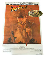 STEVEN SPIELBERG SIGNED AUTO INDIANA JONES FS MOVIE POSTER BECKETT BAS COA