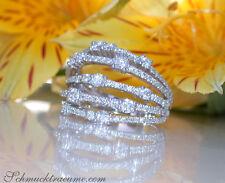 Interessant: Mehrreihiger Brillanten Ring 1.46 ct. TW SI Weißgold 750 ab 6.200€