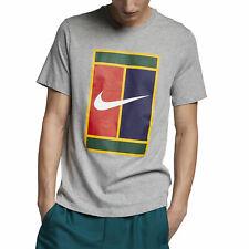Nike Court Heritage Logo T-Shirt Grey BV5775-063 Tennis Tenis SIZE L