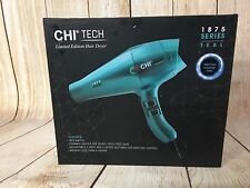 ** CHI Tech 1875 Limited Edition Ceramic Heat Hair Dryer Rapid Clean Tech, Teal
