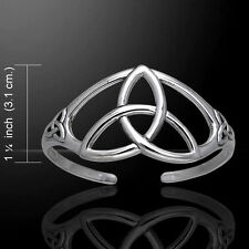 Celtic Triquetra Trinity .925 Sterling Silver Bracelet by Peter Stone