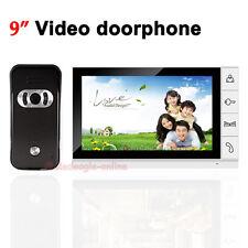 Wired Video Door Phone Doorbell Intercom System 9 inch Color TFT LCD IR Camera