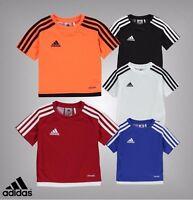 Infants Boys Genuine Adidas Logo 3 Stripe Estro T Shirt Top Size 18 Mnth-5 Yrs