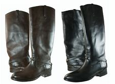 Frye Womens Lindsay Plate Knee High Pull On Strap Equestrian Riding Boots